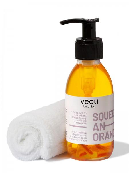 veoli Squeeze an orange 2in1 Make-up-Entferneröl 137ml inkl. hypoallergenem Handtuch